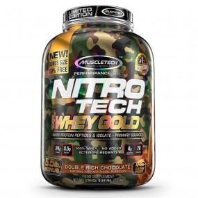 WHEY GOLD 100% CAMUFLADA MUSCLETECH POTE 2.49KG