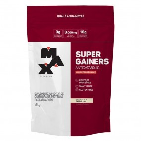 SUPER GAINERS HIPERCALÓRICO MAX TITANIUM REFIL 3KG
