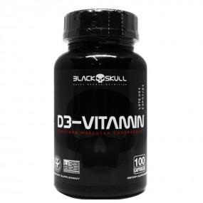 D3 VITAMINA BLACK SKULL POTE 100 CÁPSULAS